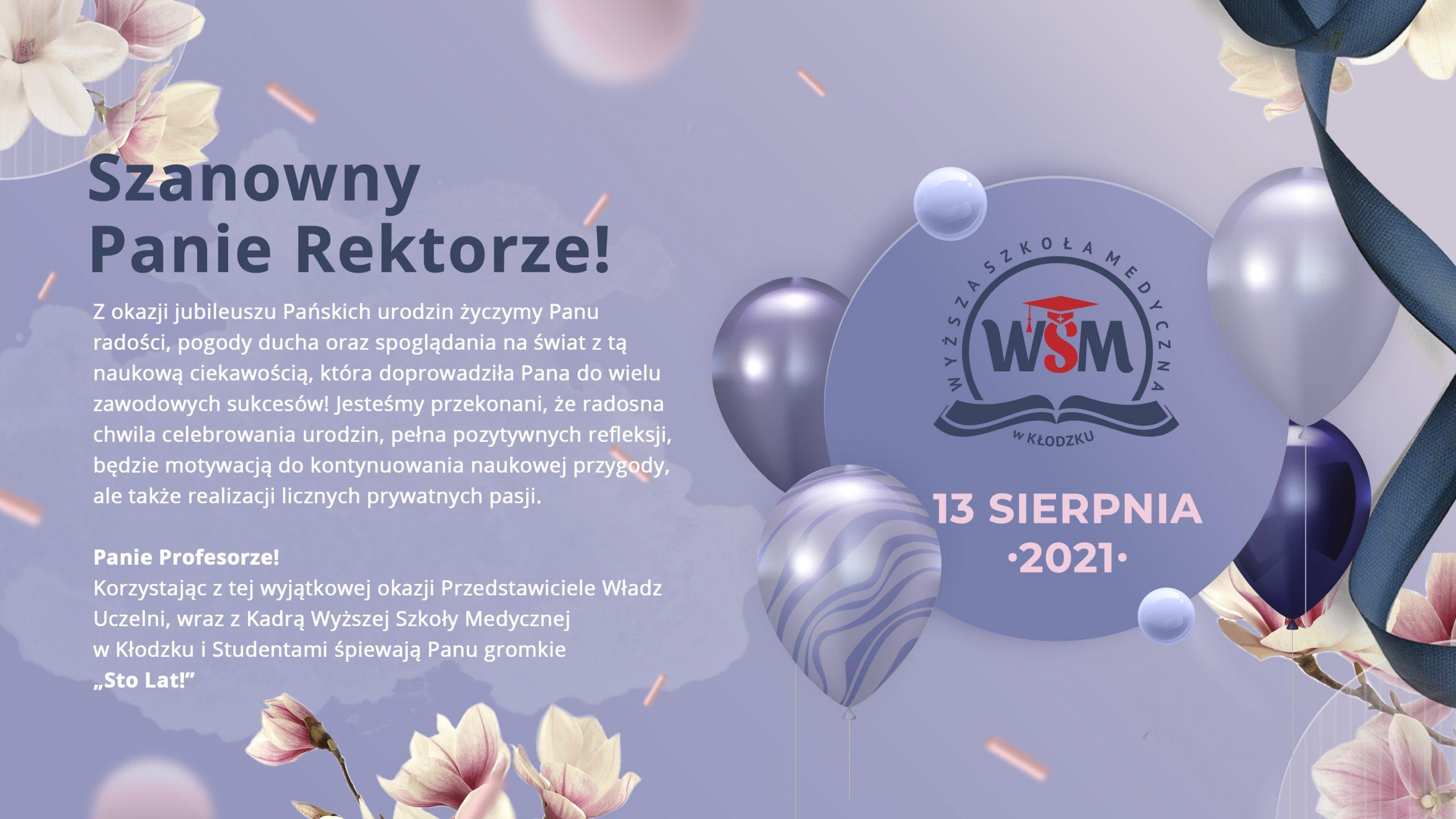 Urodziny byłego Rektora Wyższej Szkoły Medycznej w Kłodzku prof. dr. hab. Andrzeja Dżugaja.