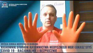 WSM Kłodzko Zdejmowanie rękawic ochronnych COVID 19